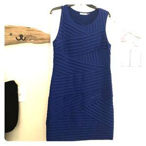 Calvin Klein Blue sleeveless fitted dress